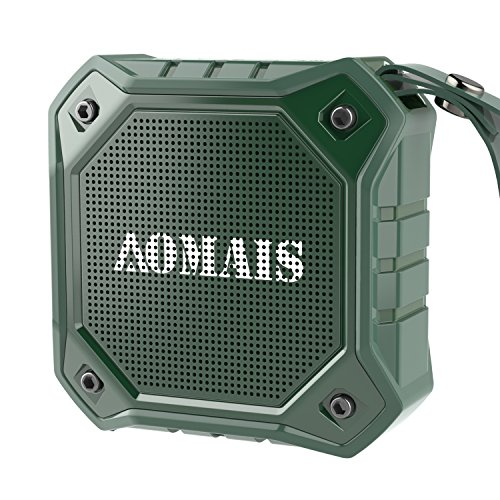 Altoparlante Wireless Bluetooth, aomais Outdoor kablellose portatile impermeabile IPX7 altoparlante Bluetooth: Stereo Pairing funzione, lauter Volume con uscita Bass, 8 W, per smartphone, tablet, PC, Laptop, MP3 (Nero/Rosso/Verde)