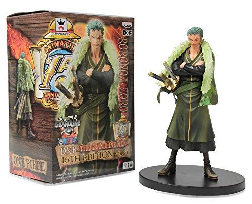 """Banpresto One Piece The Grandline Men 15th Edition Vol.5 DXF 6.5"""" Roronoa Zoro Action Figure"""