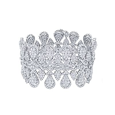 33.78ct 18k White Gold Diamond Lady's Bracelet
