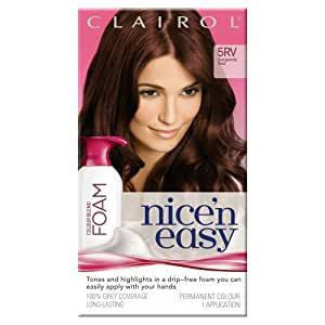 Nice'n Easy Colour Blend Foam Permanent Hair Colour - Burgundy Red (No. 5RV)