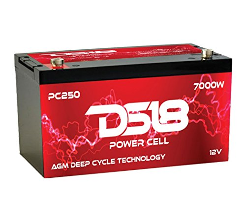 DS18 PC250 AGM Technology High Output 7000 Watts Max Car Audio Power Cell Battery (Car Battery Amazon compare prices)