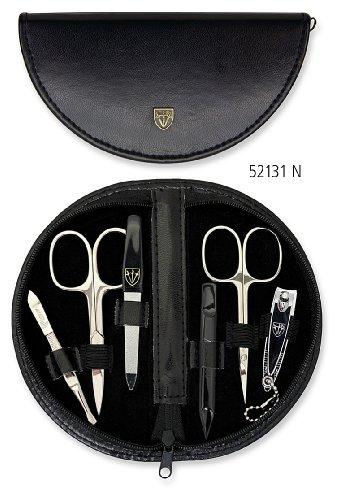 Drei Schwerter - 6 teiliges Maniküre & Pediküre Etui aus hochwertigem Kunstleder, Qualität: Made in Solingen