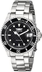 """Invicta Men's ILE8926OBA """"Pro Diver"""" Stainless Steel Watch with Link Bracelet"""