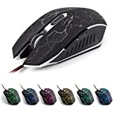 VAlinks Ergonomic LED Wired Gaming Mouse 6 Buttons With Different Soothing LED Colors. 10 Million Keystroke Life...