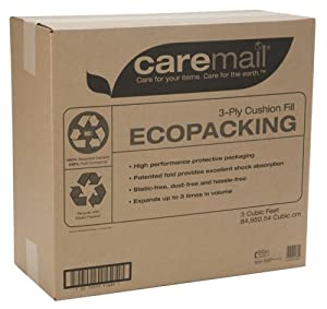 Caremail EcoPacking Recycled 3-Ply Cushion Fill Protective Packaging Filler, 3 Cubic Feet (1118682)
