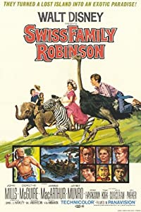 Swiss Family Robinson Poster Movie B 11 x 17 In - 28cm x 44cm John Mills Dorothy McGuire James MacArthur Tommy Kirk Janet Munro Sessue Hayakawa