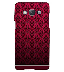 PRINTSWAG RED PATTERN Designer Back Cover Case for SAMSUNG GALAXY E5
