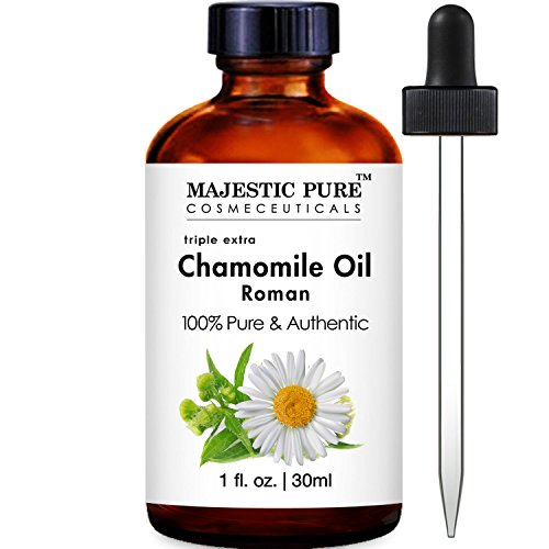 Majestic Pure Roman Chamomile Essential Oil, 100% Pure and Natural Therapeutic Grade , 1 Fluid Ounce