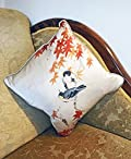 Japanese Screen Silk & Linen Cushion