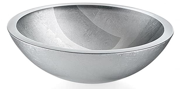 Lineabeta 53695.29.29 Lavabo Appoggio, 30 cm, Argento