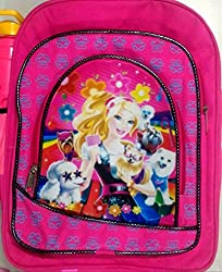 Gubbarey School Bags : Barbie : get 1 exam writing pad free with every purchase (16 INCH) : Purchase 2 quantity of bags and get 1 free secret diary