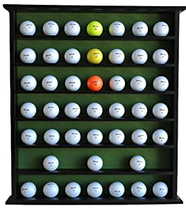 Golf Gifts & Gallery 49-Ball Display Cabinet, Black Finish, No door, Wall... by TopStage