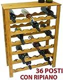 Cantinetta porta bottiglie vino in legno 36 posti per casa bar ristorante enoteca