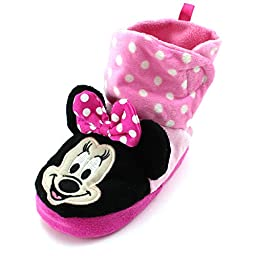 Minnie Mouse Toddler Girls Boot Slippers (M (5/6) M US Toddler)