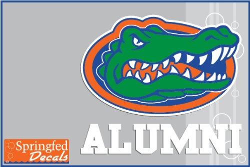Florida Gators Alumni W/ Gator Head Logo #2 Vinyl Decal Car Truck Window Uf Baseball Sticker