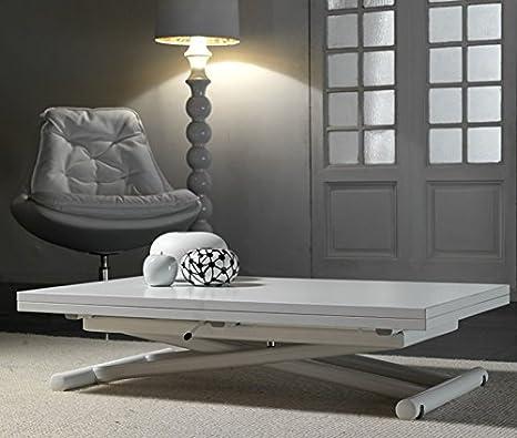 La Seggiola - Tavolo Trasformabile Lift Wood - Struttura: Cromato - Piano: Nobilitato Wengè