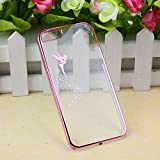 Suppion (TM) Transparent Hard Skin Case Cover For IPhone 5 5S (Pink)