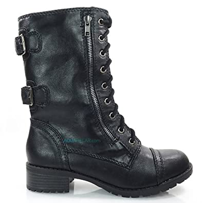 soda womens dome combat boots shoes
