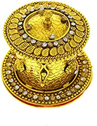 Anuradha Art Golden Finish Antique Classy Wonderful Designer Traditional Sindoor Box For Women