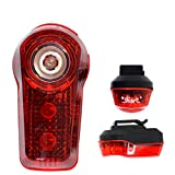 Smart R1 Super Bright 3 LED Rear Bike Light with Rucksack Clip