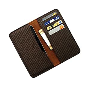 i-KitPit : PU Leather Wallet Flip Pouch Case For HTC Desire V / Desire X (BROWN)