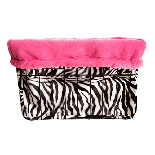Cruiser Candy Reversible Bike Basket Liner - Zebra Design, Pink
