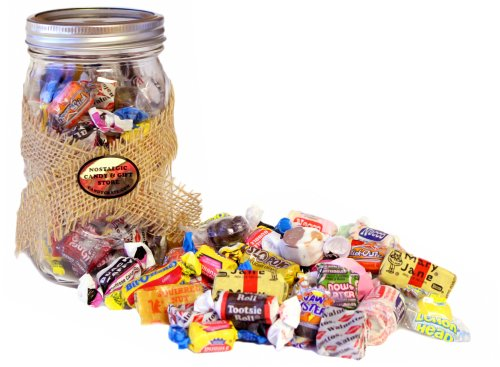 Bulk Nostalgic Candy filled Mason Jar