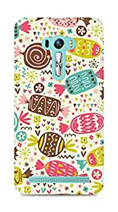 Amez designer printed 3d premium high quality back case cover for Asus Zenfone Selfie (Chocolate Pattern)