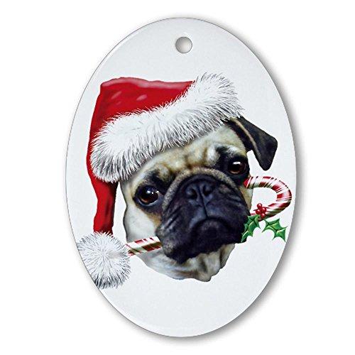 CafePress-Carlino natalizio ovale, Natale Ornament