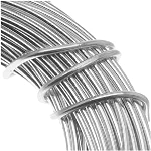 Aluminum craft wire 18 gauge 39 feet silver by for 24 gauge craft wire