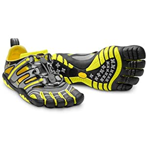 Vibram Fivefingers Treksport Sandal - Men's Grey/Yellow/Black 42 M EU