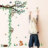 ElecMotive Abnehmbare Messlatte Körpergröße Messen Wandsticker für Kinderzimmer in Geschenkkarton verpackt
