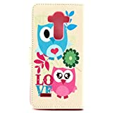 LG G4 Case,Vogue Shop G4 Case,LG G4 Wallet Case, [Ultra Slim] [Perfect Fit] Sparkle Pattern Premium Pu Leather[Wallet Function] [Stand Feature] Type Magnet Design Flip Protective Credit Card Holder Pouch Skin Case Cover for LG G4 Smartphone (Built-in Credit Card/ID Card Slot) [Flip Cover] with Foldable Stand, Pockets for ID, Credit Cards [holder] - with Stand All-around TPU Inner Case Skin Cover and Snap Button Closure [Type Magnet Design] Flip Protective Stylish Pattern Design Blue Folio Case for LG G4 with 1 stylus/one screen touch pen [NOT Compatible with LEATHER LG G4] (vogue shop-LOVE owls)
