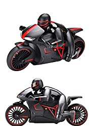 Catterpillar High Speed Professional 2.4 GHz RC Motorcycle Bike with Built-in Gyroscope & Bright LED Headlights (Red)
