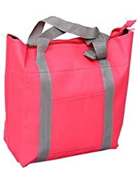 Kuber Industries™ Canvas Stylish Sling Bag, Picnic Bag, Shopping Bag, Handbag (Pink) - KI19454