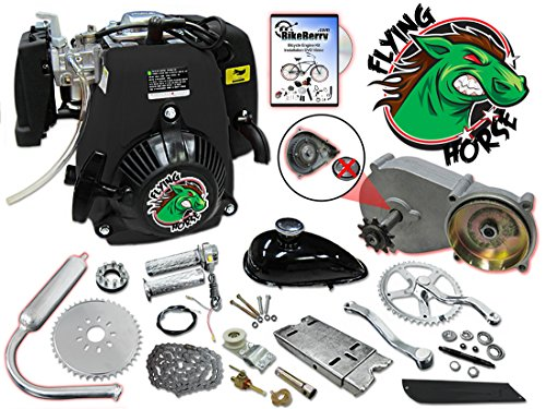 49cc Flying Horse 5G Pull Start Bicycle Engine Kit- 4 Stroke (4 Stroke Motor Bike Kit compare prices)