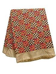 Inhika Women's Kurti Fabric (Inhika_495_Gold Orange Pink)