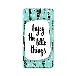 ArtzFolio Enjoy The Little Things : Sony Xperia C5 Matte Polycarbonate ORIGINAL BRANDED Mobile Cell Phone Protective BACK CASE COVER Protector : BEST DESIGNER Hard Shockproof Scratch-Proof Accessories