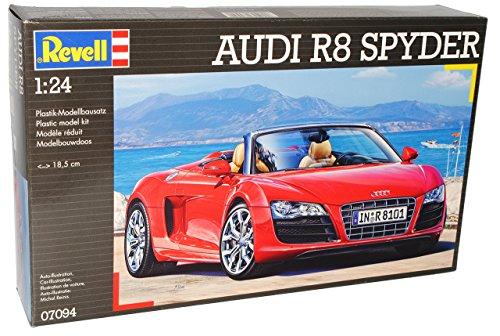 Audi R8 R 8 Cabrio Rot Offen Spyder 07094 7094 Bausatz Kit 1/24 Revell Modellauto Modell Auto