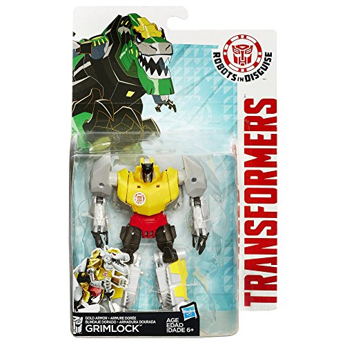 Transformers Robots in Disguise Warrior Class Gold Armor Grimlock Figure (Robots Figures compare prices)