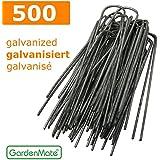 GardenMate® 500 piquets de fixation GALVANISÉ pour bâche toile paillage et anti-mauvaises herbes - 15cm en métal