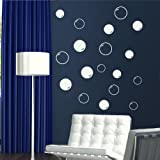 LOVELY BUBBLES MODERN WALL ART STICKER DECAL giant tattoo picture print RA186