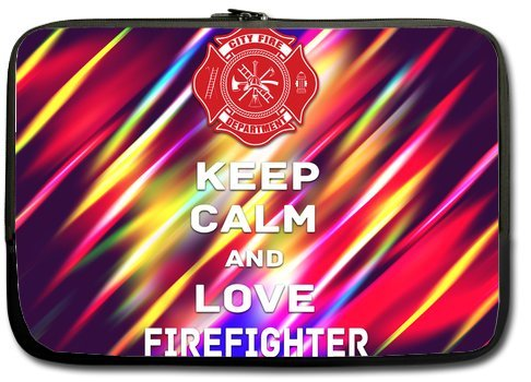 Keep Calm And Love Firefihter 11 Inch Laptop Sleeve Bag For Laptop / Notebook / Ultrabook / Macbook front-595157