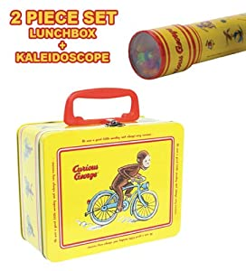 Curious George Tin Keepsake Box and Kaleidoscope 2pc Set