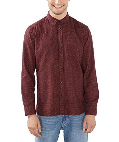 ESPRIT Gemustert, Camicia Uomo, Arancione (Terracotta), XX-Large