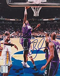 Vin Baker Autographed Hand Signed Milwaukee Bucks 8x10 Photo by Real Deal Memorabilia