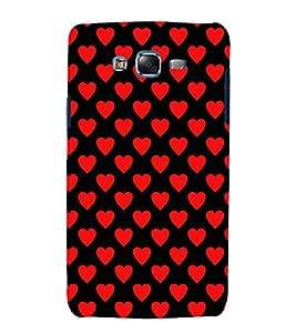 printtech Love Heart Pattern Back Case Cover for Samsung Galaxy J1::Samsung Galaxy J1 J100F