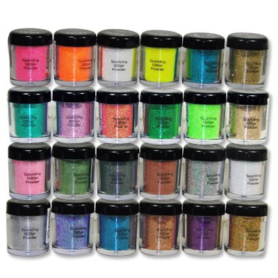 NYX Cosmetics Glitter On The Go Loose Podwer Glitter For Eyes, Face, Hair, Body Full Size 24pc (24 Different Colors)