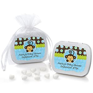 baby shower min tin favors monkey boy toys games