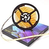 ぶーぶーマテリアル LEDテープ アンバー 300連 高輝度 5m 橙 オレンジ 12V 白ベース 防水 イルミネーション 電装品 【カーパーツ】